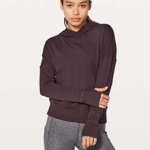 Lululemon Lead The Pack Hoodie  Black Cherry